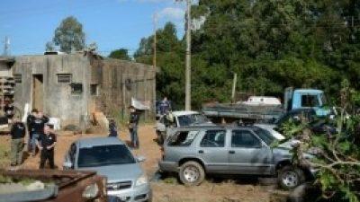 Operação Desmanche prende foragido e interdita estabelecimento em Viamão