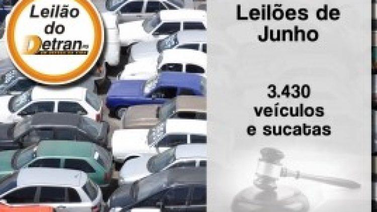 Leilões do Detran/RS ofertam 3,4 mil veículos e sucatas em junho