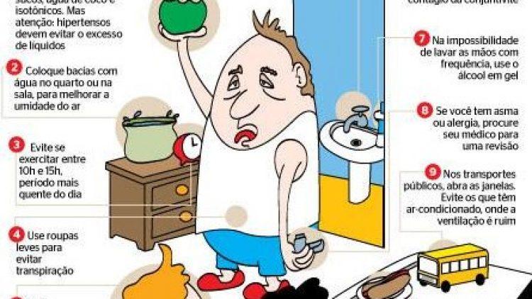 Doenças causadas pelo tempo seco: como prevenir e tratar