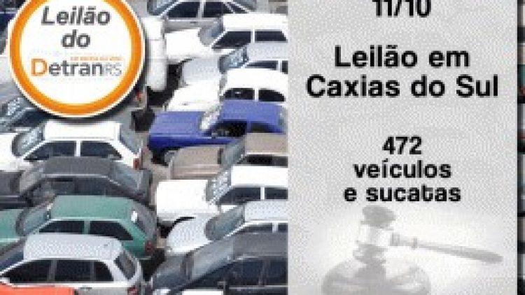 Detran/RS promove leilão de veículos e sucatas em Caxias do Sul