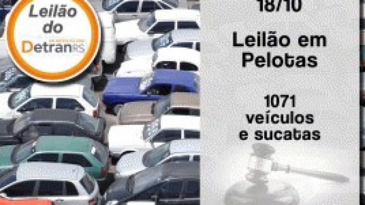 Detran/RS promove leilão de veículos e sucatas em Pelotas