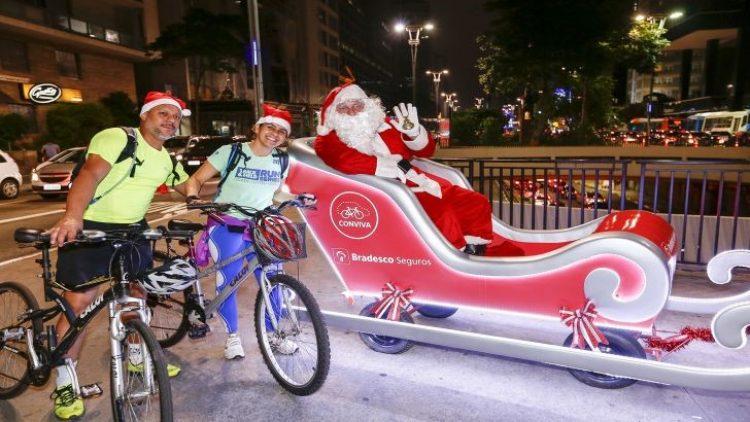 Trenó Iluminado da Bradesco Seguros leva a magia do Natal para a CicloFaixa de Lazer de São Paulo
