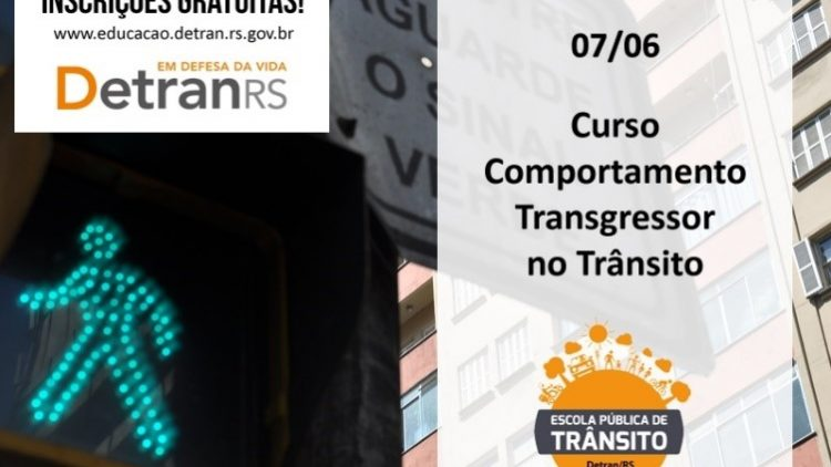 Curso do DetranRS aborda comportamento transgressor no trânsito