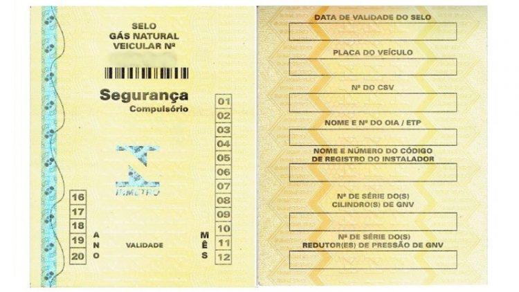 Selo do Inmetro será de porte obrigatório para veículos movidos a GNV no RS