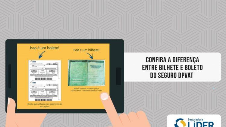 #DPVATExplica a diferença entre bilhete e boleto do Seguro DPVAT