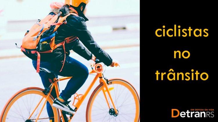 DetranRS disponibiliza material didático sobre ciclistas