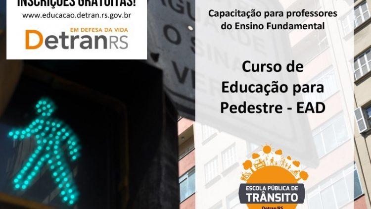 Últimos dias para inscrições no curso de educação para o pedestre
